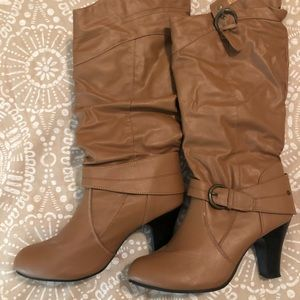Rue 21 Tan leather like boots